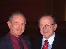 Senator Ted Stevens and Dave Harbour 12-02