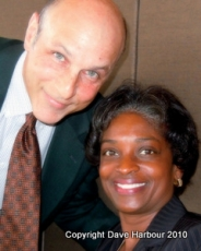 Mignon Clyburn with Andy Lohman -Clear Channel-CROP- by Dave Harbour 7-6-10 (2)